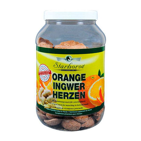 Starhorse - Leckerli Orange-Ingwer-Herzen 800g