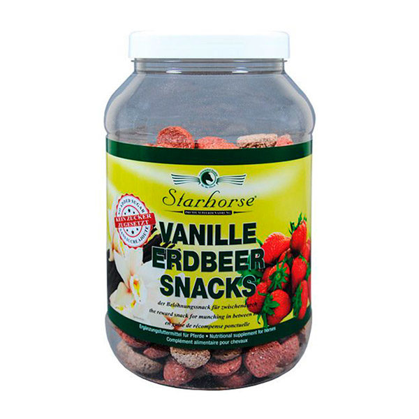 Starhorse - Leckerli Vanille-Erdbeer-Snacks 800g